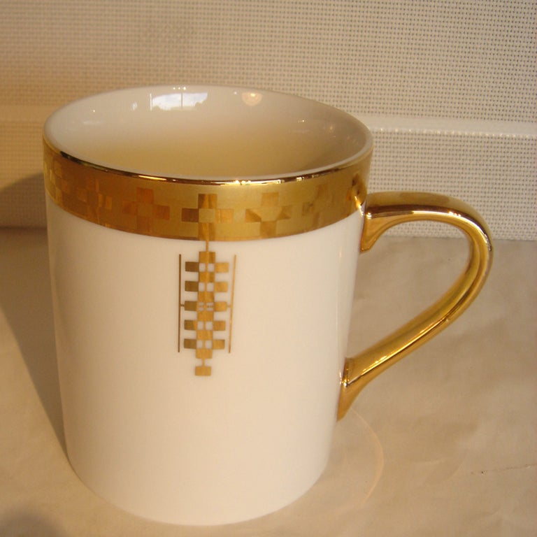 Eight Frank Lloyd Wright For Tiffany Coffee Mugs image 2