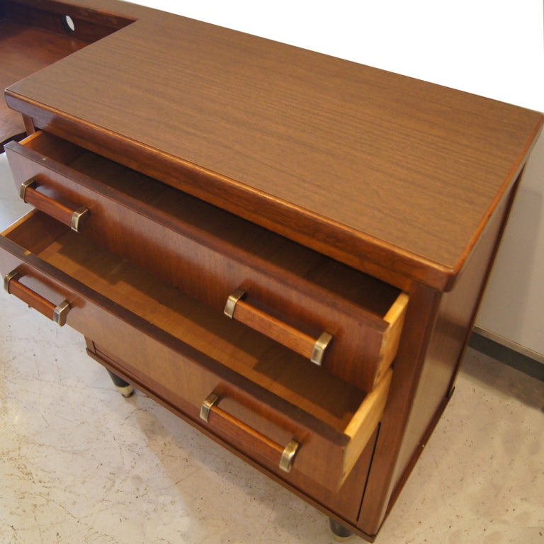 American Mid Century Walnut Credenza For Sale
