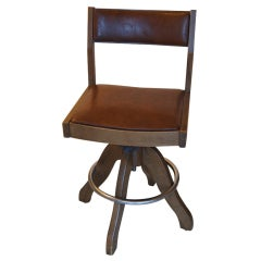 Thomas Hayes Style Wooden Bar Stool