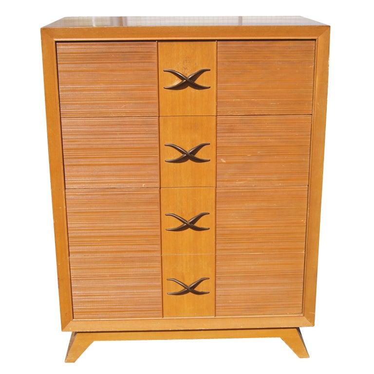 Paul Frankl For Brown Saltman Chest Dresser For Sale