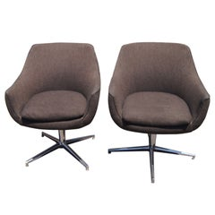 Pair Of Mid Century Scandinavian Lounge Chairs