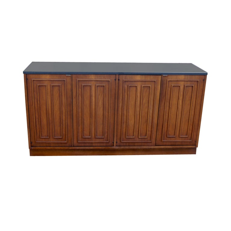 Broyhill Sculptra Walnut And Slate Buffet Chest 2