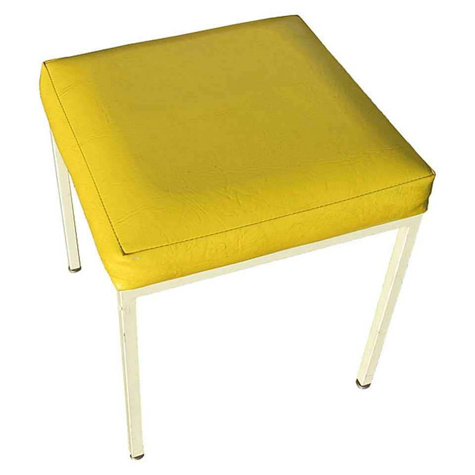 vintage mid century frederic weinberg yellow stool for