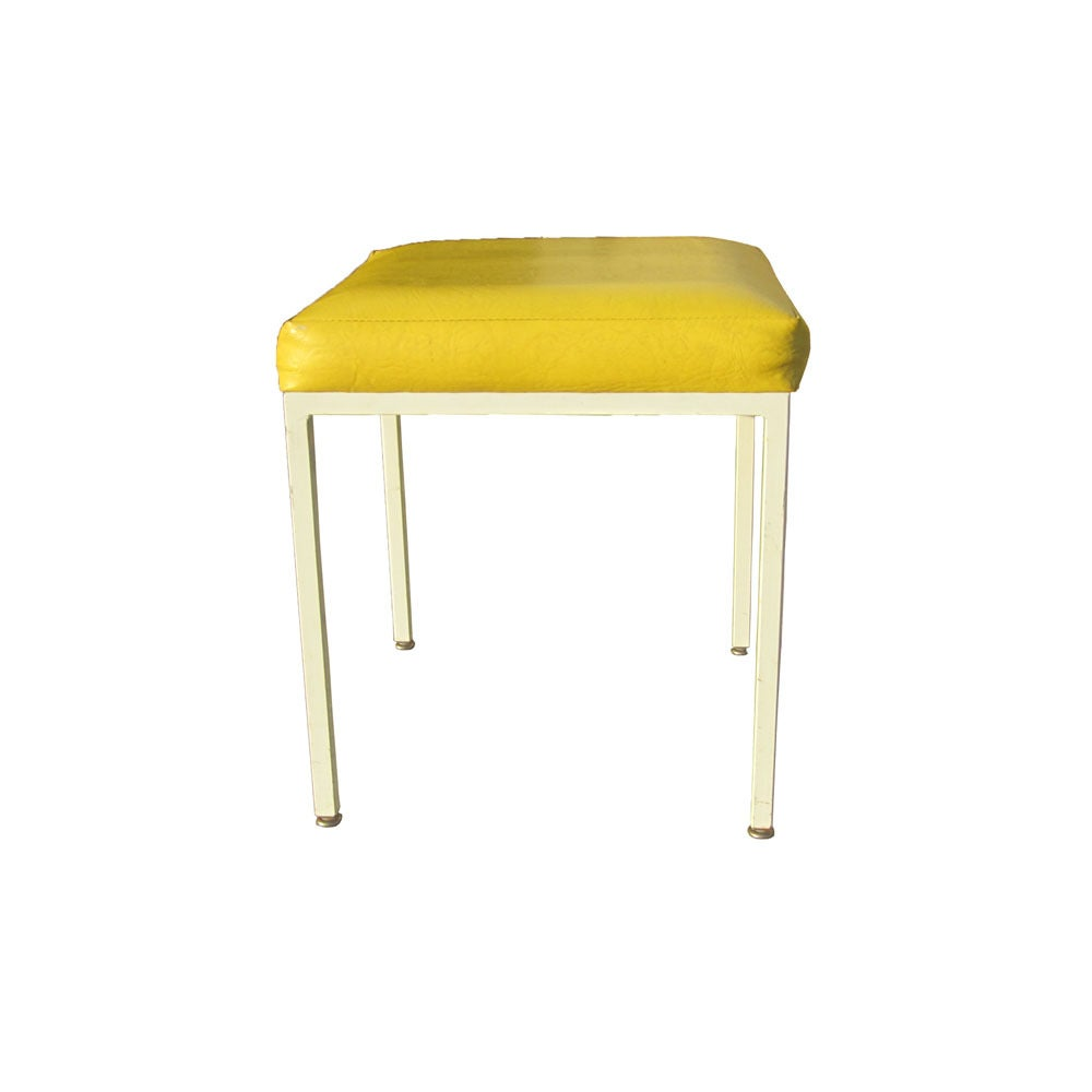 vintage mid century frederic weinberg yellow stool for sale at 1stdibs