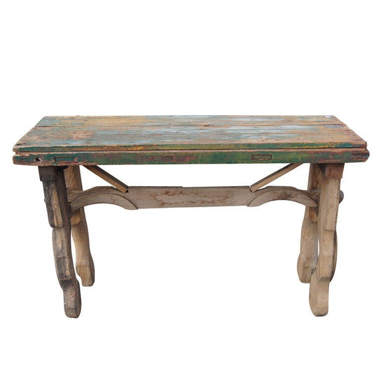 Antique wooden mexican console table at stdibs