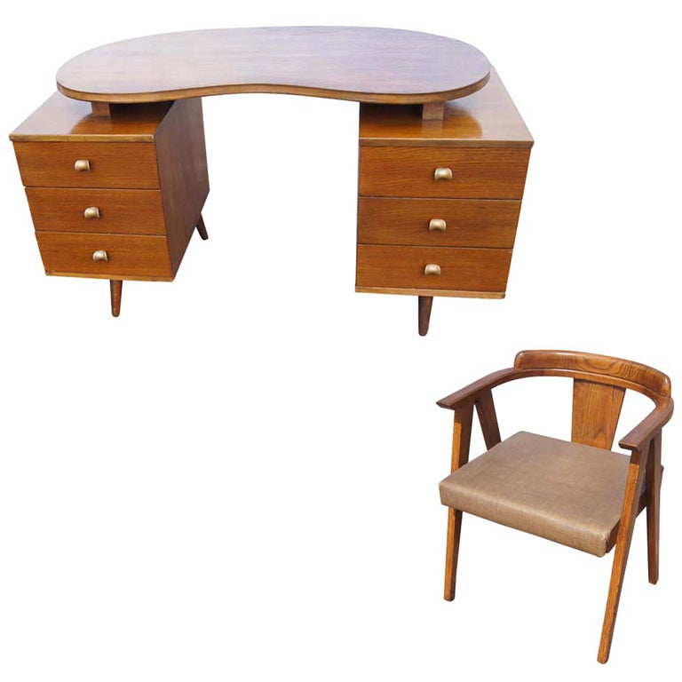 mid century wooden desk and chair 1 chair mid century office