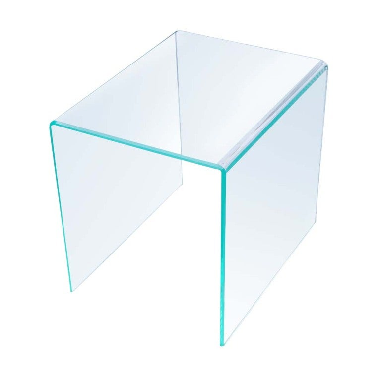 Pair Of Mid Century Modern Acrylic Side End Tables At 1stdibs