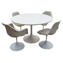 Saarinen Style Tulip Dining Set Table and Chairs