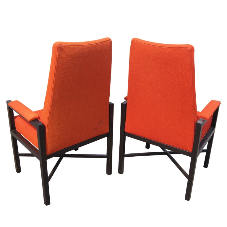 American Pair of Roger Sprunger for Dunbar Armchairs For Sale