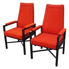 Pair of Roger Sprunger for Dunbar Armchairs