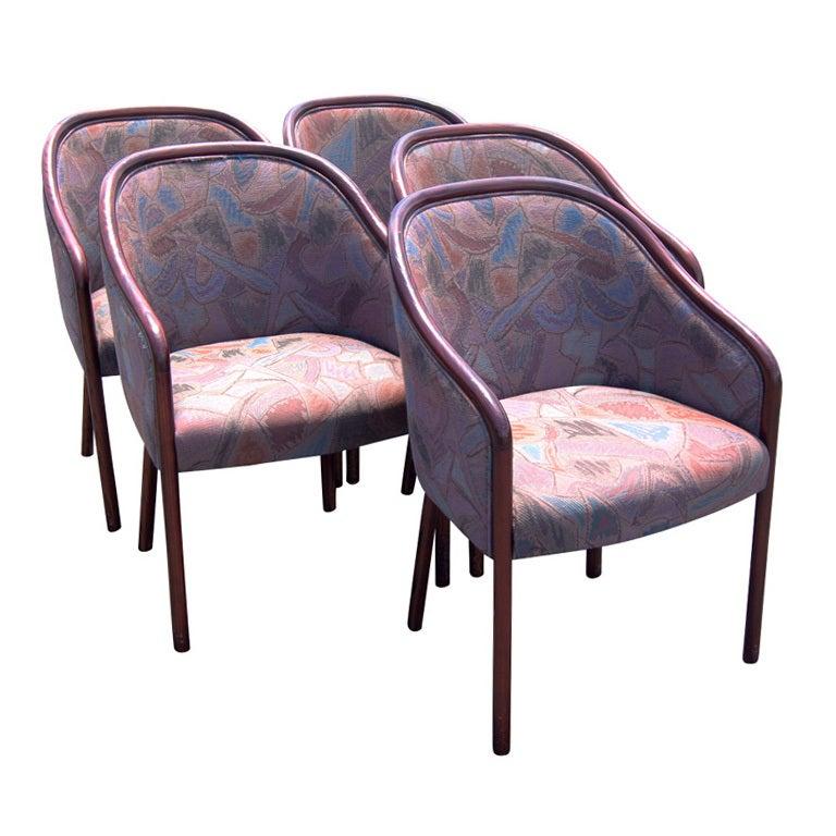 Vintage Mid Century Ward Bennett For Brickel Side Chairs