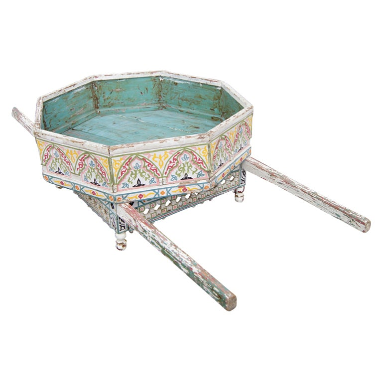 Brightly Decorated Moroccan Wooden Palanquin