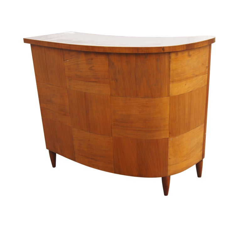 Mid century wooden bar at 1stdibs for Home dry bar furniture