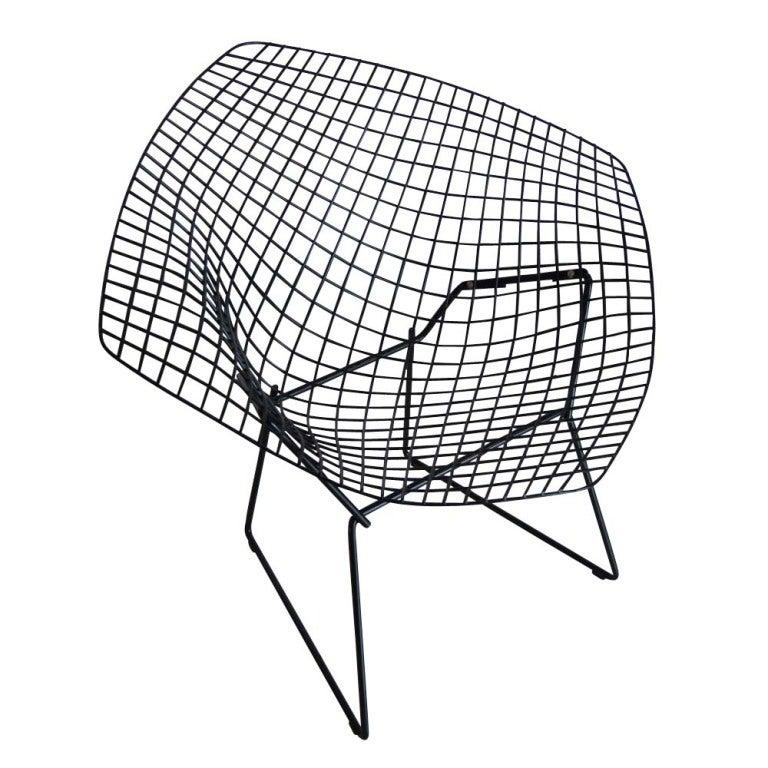 Harry Bertoia For Knoll Black Diamond Chair 2