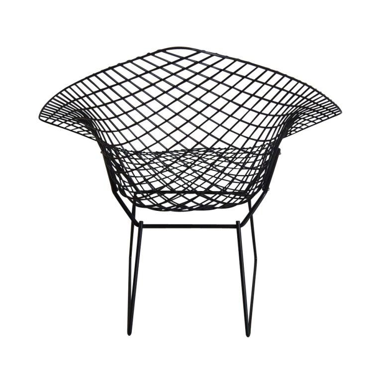 harry bertoia for knoll black diamond chair at 1stdibs. Black Bedroom Furniture Sets. Home Design Ideas