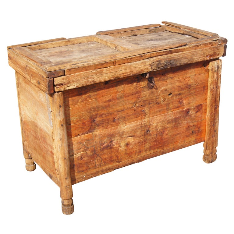 Rustic Moroccan Wooden Trunk Chest For Sale At 1stdibs