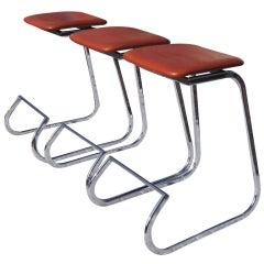 Three John Behringer For Stendig Prometheus Barstools