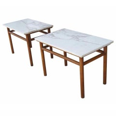 Pair T.H. Robbsjohn Gibbings For Widdicomb Side End Tables
