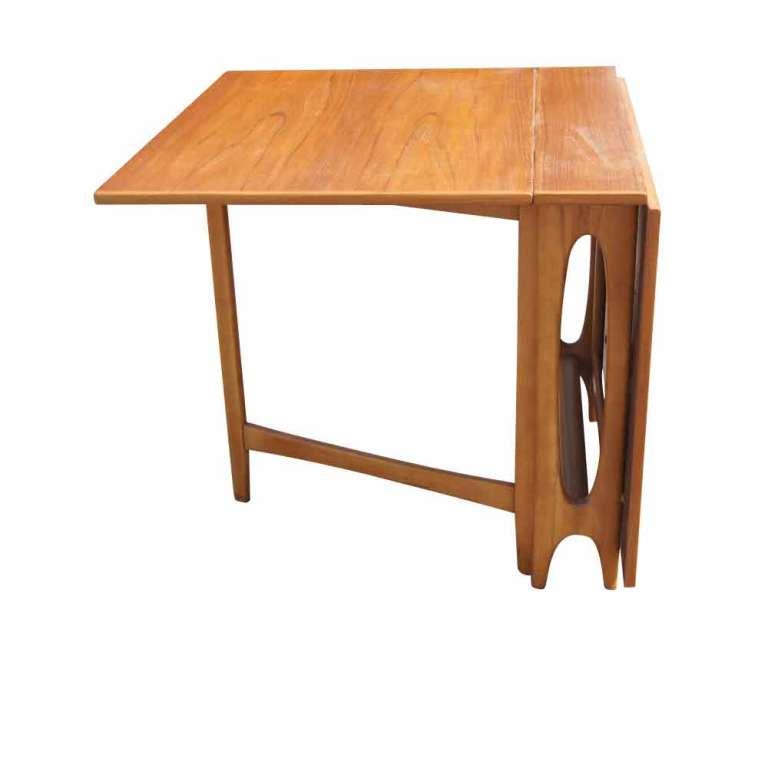 Scandinavian Teak Drop Leaf Dining Table At 1stdibs