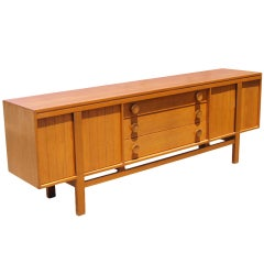 Greaves And Thomas Teak Buffet Credenza