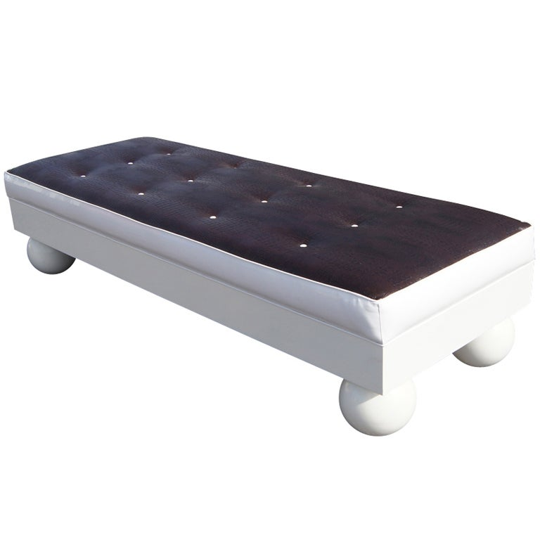 Hollywood Regency Daybed Bench