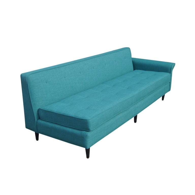 1950 39 S Sofa With New Turquoise Upholstery Image 2