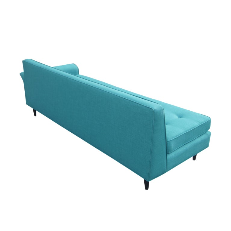 1950 39 S Sofa With New Turquoise Upholstery At 1stdibs