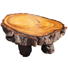 Large Rustic Redwood Coffee Table