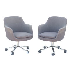Pair Of Nicos Zographos For Zographos Bucket Chairs