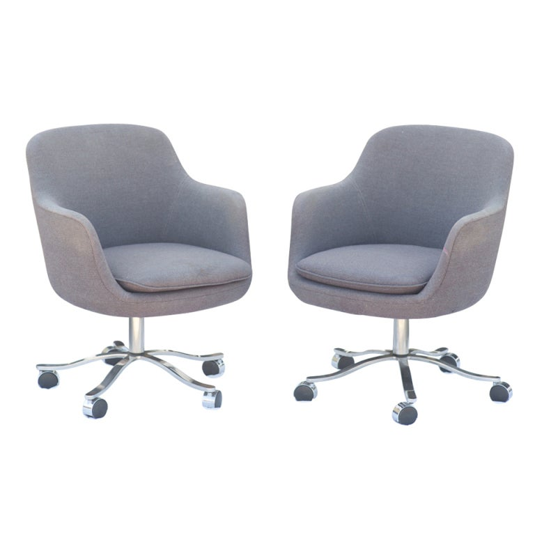 Pair Of Nicos Zographos For Zographos Bucket Chairs For