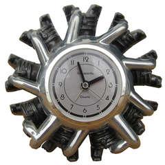 Sarsaparilla Designs Art Deco Revival Radial Engine Clock