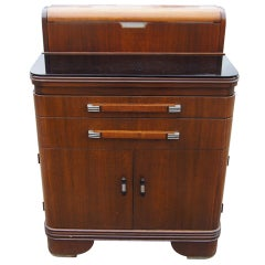 Art Deco Hamilton Donald Deskey Walnut Dental Cabinet