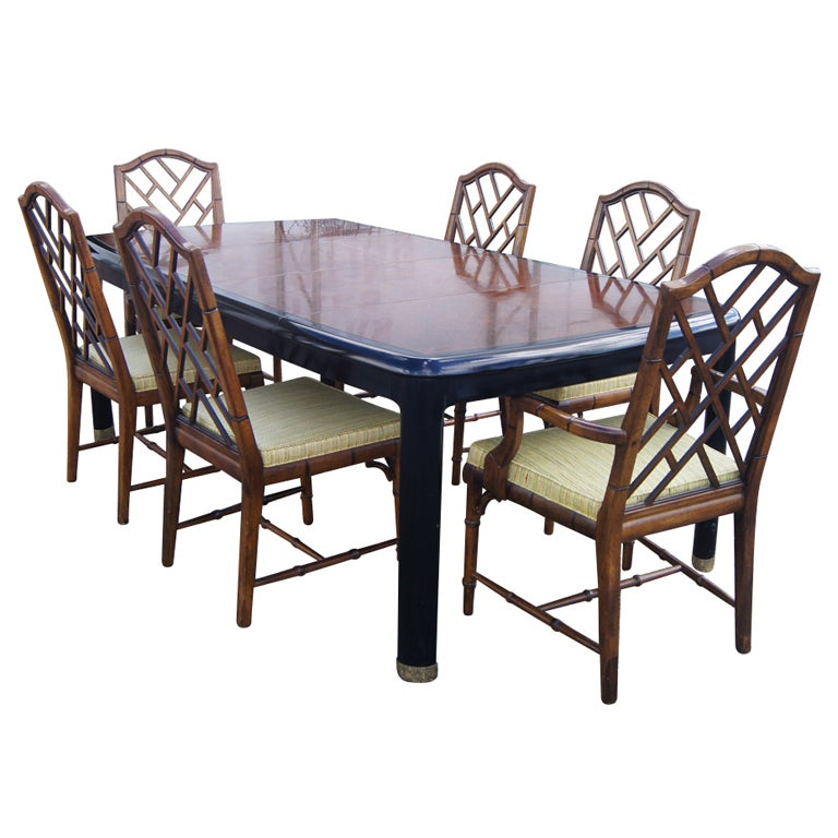 Century Furniture Chin Hua Dining Suite For Sale