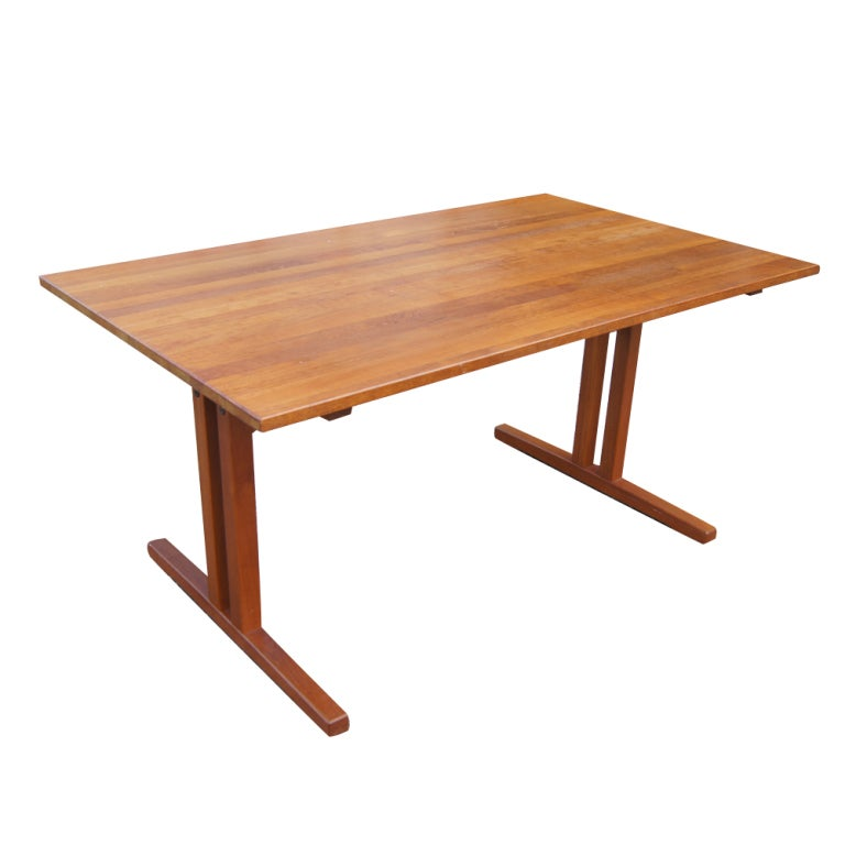Mid Century Modern Teak Extension Dining Table For Sale At 1stdibs