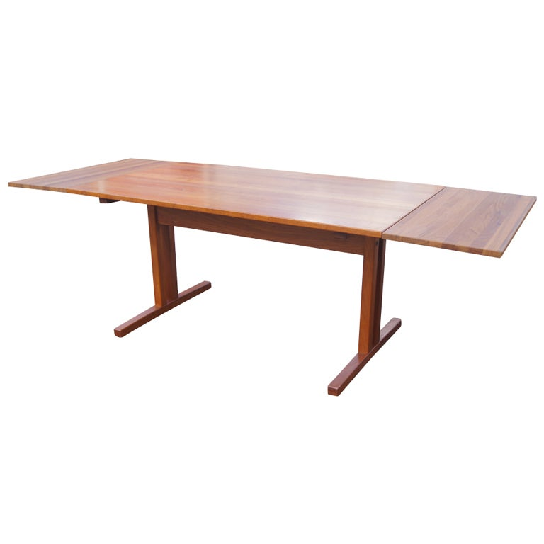 Mid Century Modern Teak Extension Dining Table For Sale