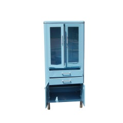 Blue Metal Industrial Cabinet image 2