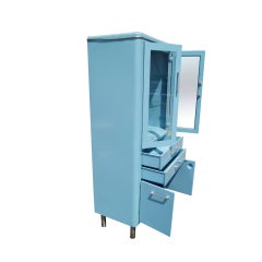 Blue Metal Industrial Cabinet image 3