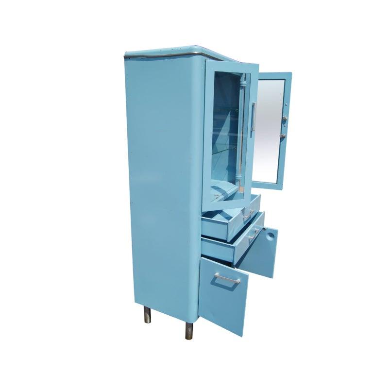 Blue Metal Industrial Cabinet 3