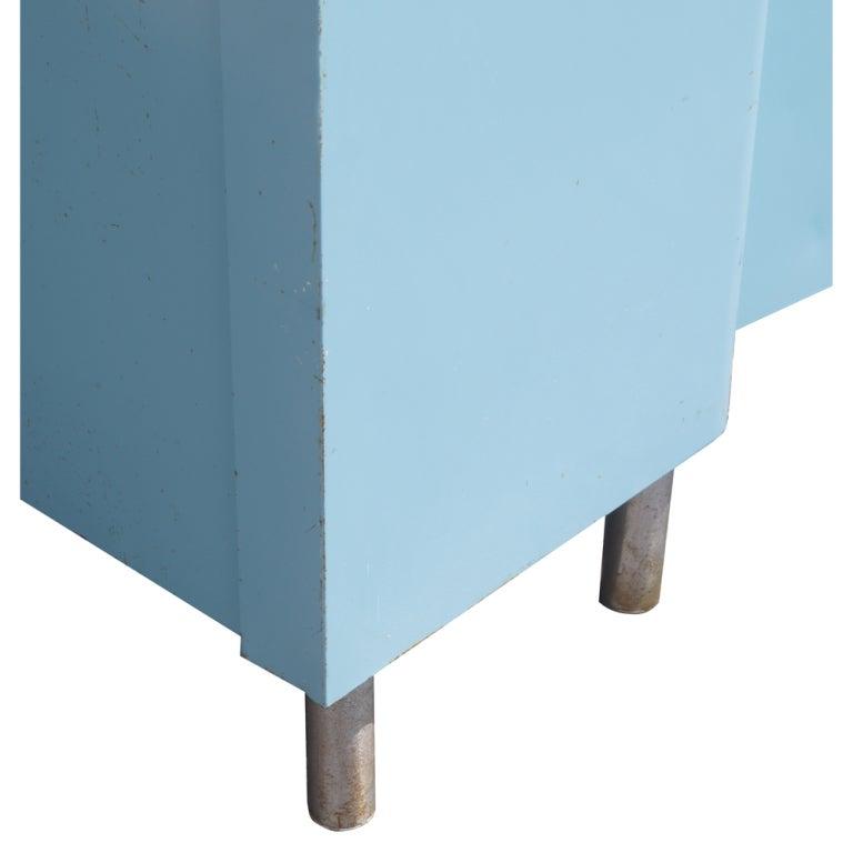 Blue Metal Industrial Cabinet 4