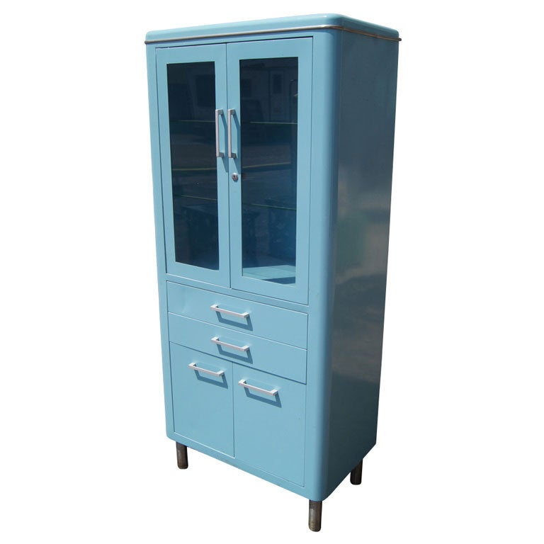Blue Metal Industrial Cabinet