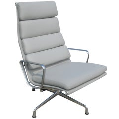 Eames Herman Miller Spinneybeck Leather Soft Pad Lounge Chair
