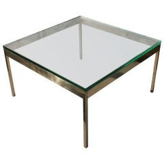 Modern Square Bronze Coffee Table