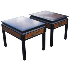 Pair Of Century Furniture Chin Hua Side Tables