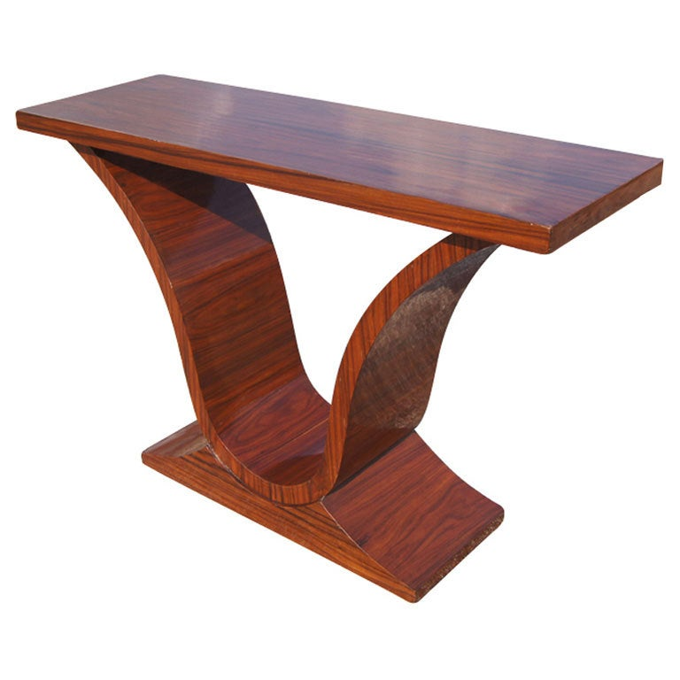 art deco rosewood console sofa table for sale at 1stdibs. Black Bedroom Furniture Sets. Home Design Ideas
