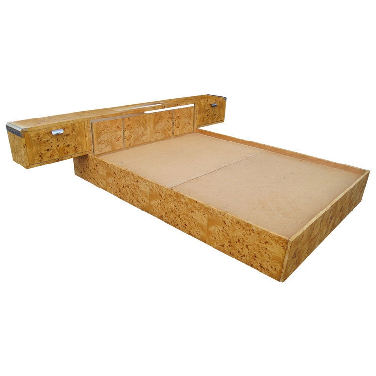 Irving Rosen For Pace Queen Size Platform Bed & Night Stands 1