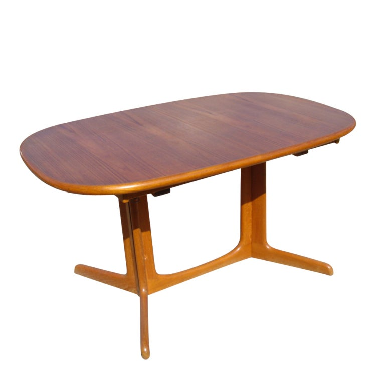 niels o moller for gudme teak extension dining table at