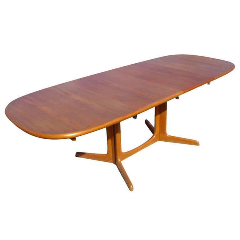 Niels O Moller For Gudme Teak Extension Dining Table For Sale at