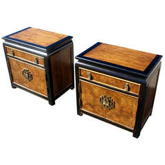 Century Chin Hua Asian Hollywood Regency Night Stands