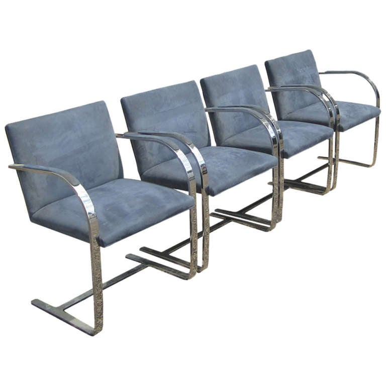 Mies van der Rohe for Knoll Flatbar Brno Chairs