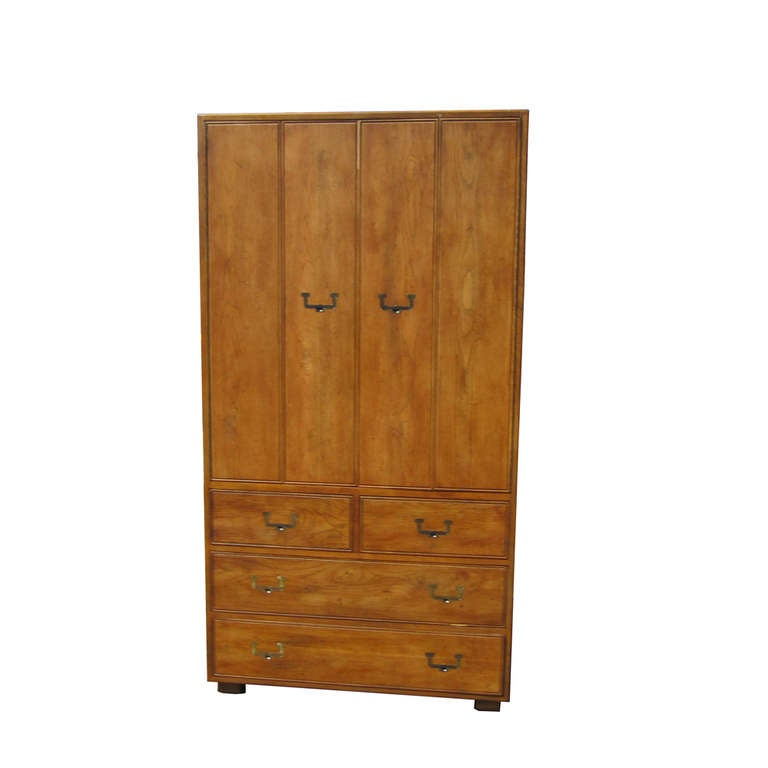 Henredon Artefacts Armoire Cabinet at 1stdibs